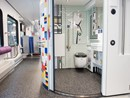 IT toilet in NS Sprinter blauw wit decor